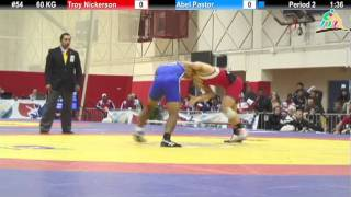2012 Pan Am: 60 KG Cons. Round 1: Troy Nickerson (USA) vs. Abel Pastor (PER)