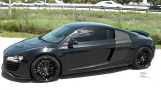 www.DUBSandTIRES.com 19 Inch Forgestar F-11 F11 Gloss Black Wheels Audi R8 2009 Concaved Forged Rims