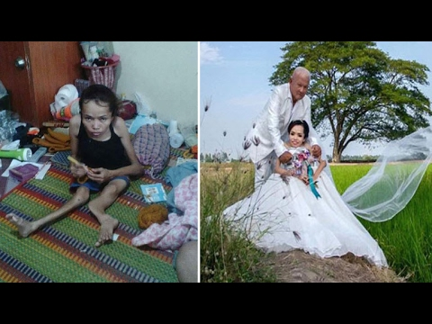 'My dream has come true!' Disabled bride ties the knot after feared she'd never find love