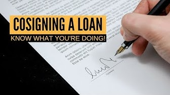 How does cosigning a loan work | Personal Finance 101