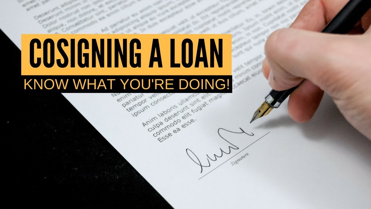 How Does Cosigning A Loan Work Personal Finance 101