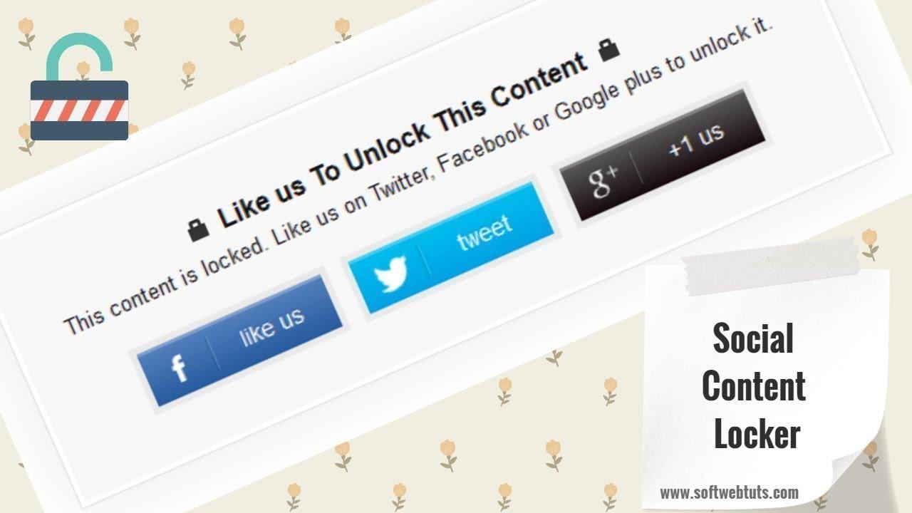 Social Content Locker Generator Tool - Social Content Locker For Blogger