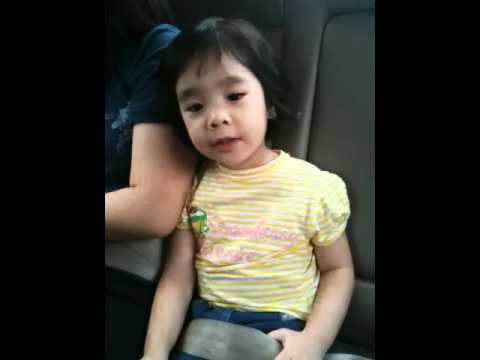 A 2 years old with hokkien song