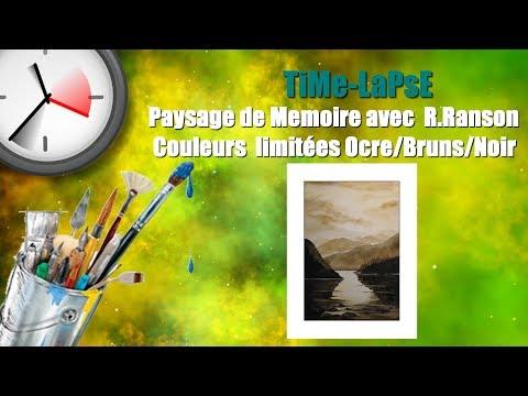 ...::: TiMe-LaPsE :::... Paysage SIMPLE de Mémoire ! Couleurs Limitées. Pinceau R.Ranson S