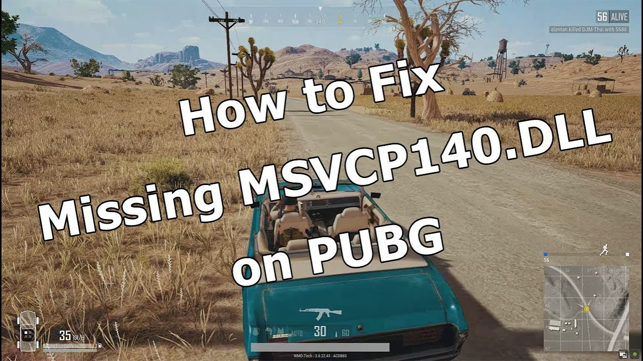 vcruntime140.dll is missing pubg lite