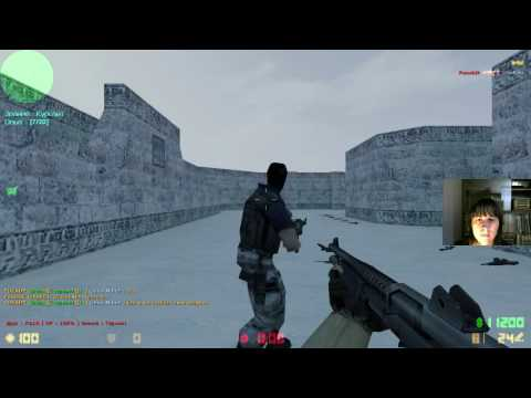 Два друга играют в Counter Strike   Source