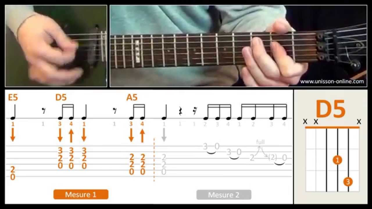 Populaire Jouer Back in black ( ACDC ) - Cours guitare. Tuto + Tab - YouTube YR28