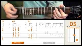 Jouer Back in black ( ACDC ) - Cours guitare. Tuto + Tab