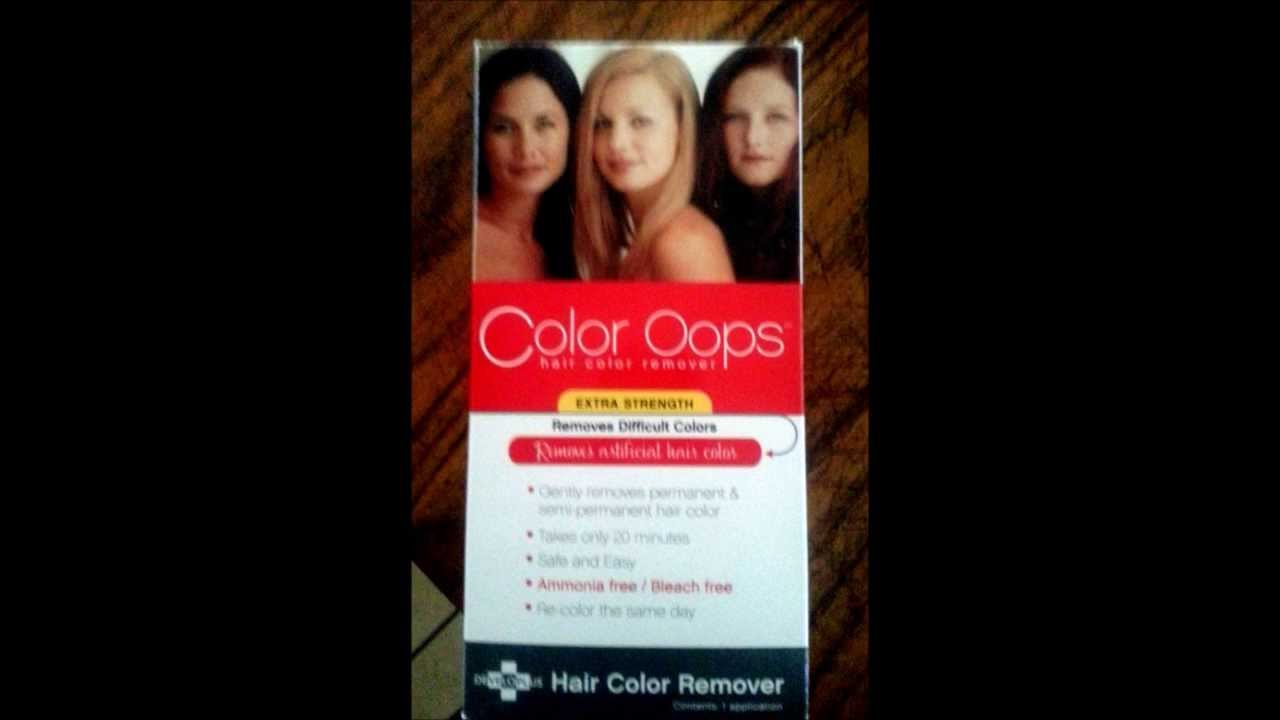 Using Color Oops Hair Color Remover On Red Hair Youtube
