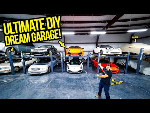 I BUILT MY ULTIMATE DIY SUPERCAR WORKSHOP! – Garage Update Episode 1