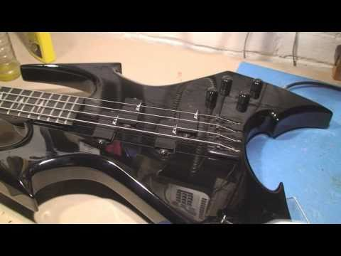 B.C. Rich Beast Bass Guitar Repair and Demo