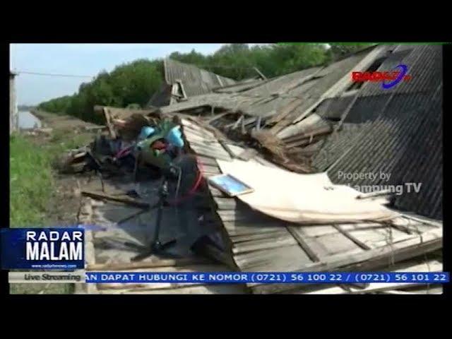 Puting Beliung Hancurkan Rumah Warga di lampung Timur