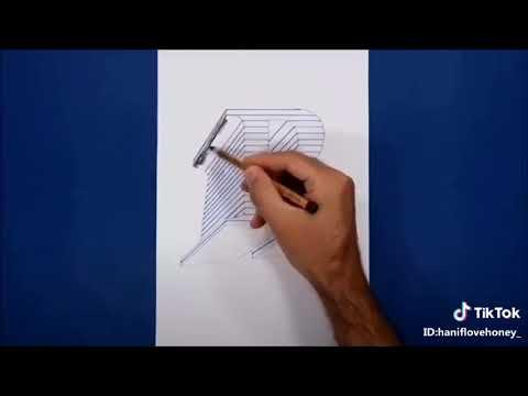 Cách vẽ chữ R 3D