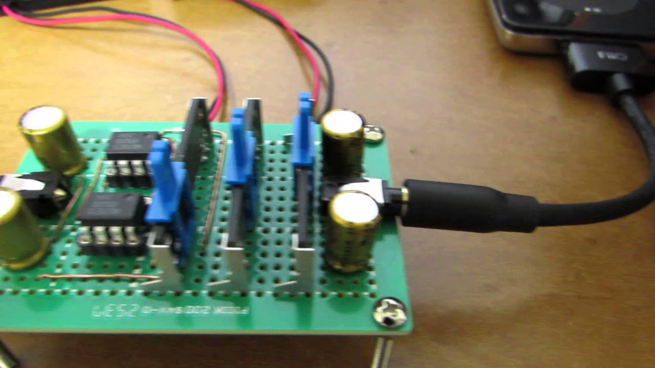 hand-made 3-band audio equalizer - YouTube