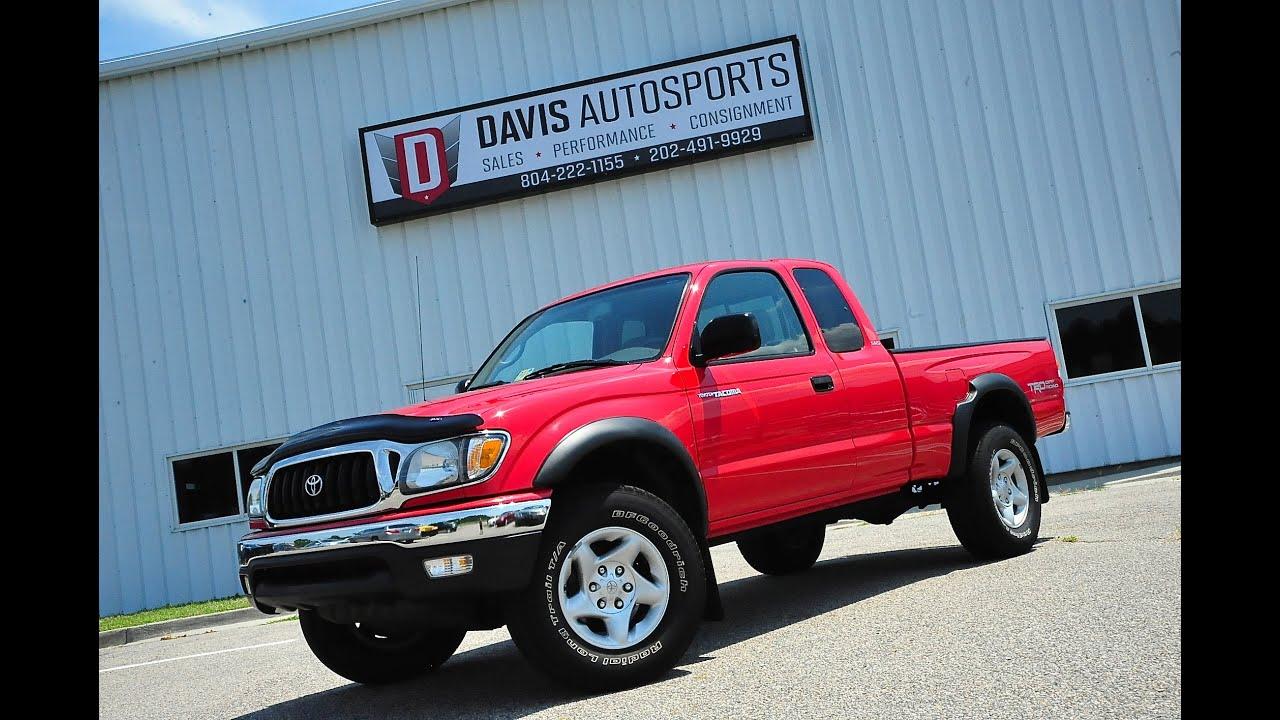 Davis autosports 2003 toyota tacoma 4x4 5 speed low miles for sale 8 5 15