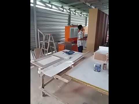 Cara membuat pintu kaca kitchen set