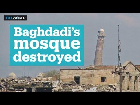 Mosul's Al Nuri Mosque destroyed
