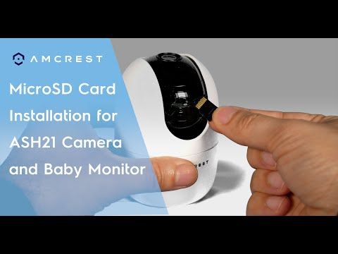 How To Install A Micro SD Card Into Amcrest ASH21 WiFi Pan/Tilt Camera Baby Monitor