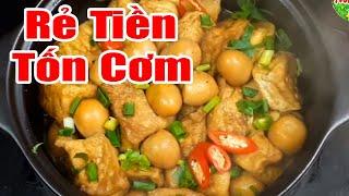 Đậu Phụ Nấu Trứng Cút Kiểu Này Ai Chả Thích | Hồn Việt Food