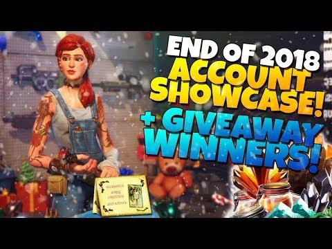 END OF 2018 ACCOUNT SHOWCASE! + GIVEAWAY WINNERS! | Fortnite STW