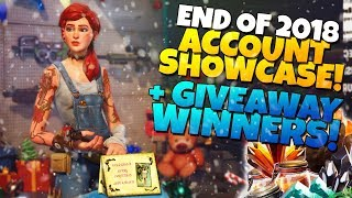END OF 2018 ACCOUNT SHOWCASE! + GIVEAWAY WINNERS! | Fortnite STW