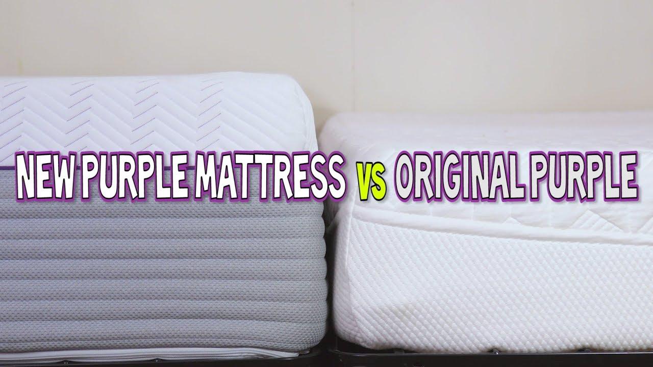 the new purple mattress vs original purple mattress what what youtube. Black Bedroom Furniture Sets. Home Design Ideas