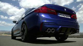 NEW F90 BMW M5 on Race Track! Beast in ACTION! Marina Bay Blue Metallic