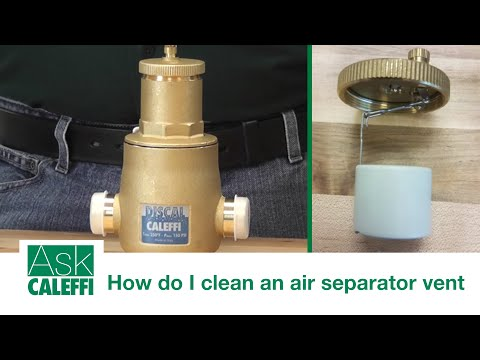 How do I clean an air separator vent?