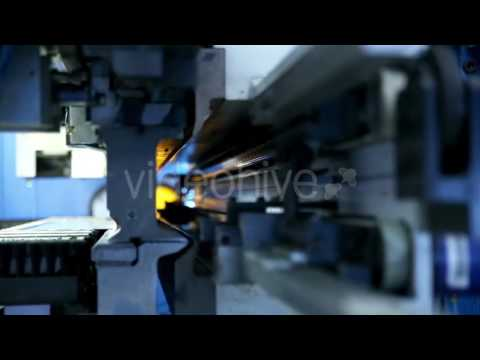 Metal Bending Machine on a Modern Industrial Factory - Stock Footage | VideoHive 14884687