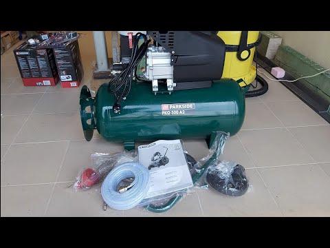 Parkside Kompresor  PKO 500 A2   Parkside PDSS B2 Unboxing And TEST
