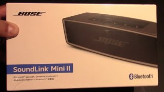 Unboxing and Review of the Bose Soundlink Mini II Bluetooth Speaker