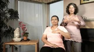 Manual Lymph Drainage (MLD) demonstrated on lymphedema patient