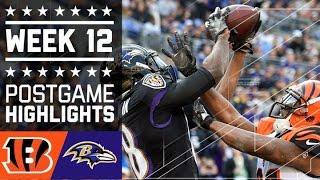 Bengals vs. Ravens | NFL Week 12 Game Highlights