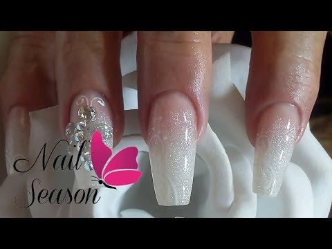 DIY Acrylic nails baby boomer Nail Art Tutorial for beginners 2016