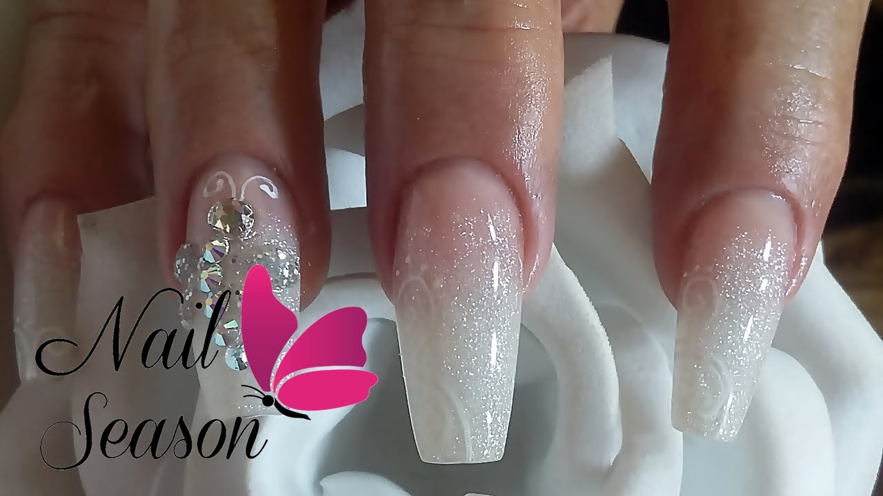 DIY Acrylic nails baby boomer Nail Art Tutorial for beginners 2016 ...