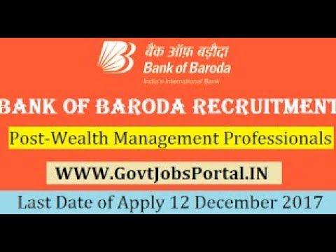 BANK OF BARODA RECRUITMENT 2017 – 337 WEALTH MANAGEMENT ... Mudra Yojana Application Form Bank Of Baroda on