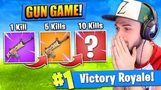 "The ""GUN GAME"" CHALLENGE in Fortnite: Battle Ro..."