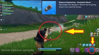 Fortnite - REMOTE EXPLOSIVES GAMEPLAY! (Getting a kill with it!)
