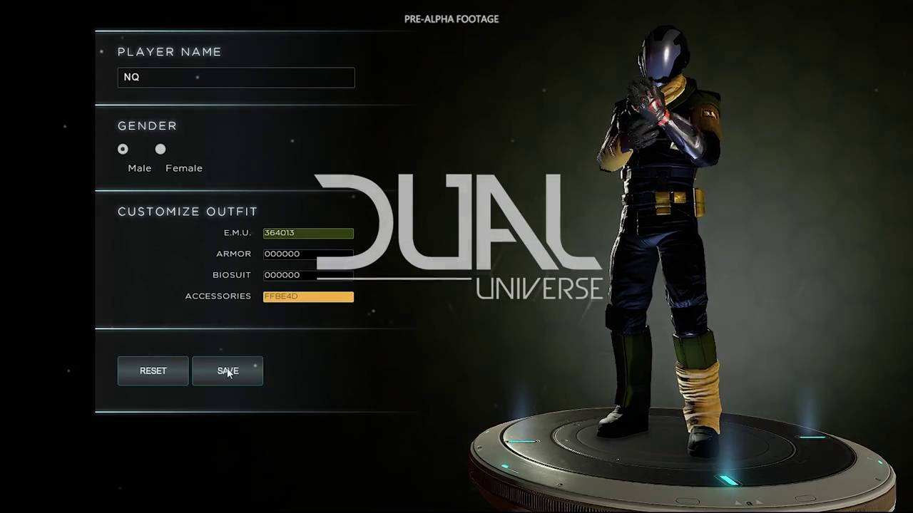 Dual Universe WIP Character Creation Pre Alpha Video YouTube