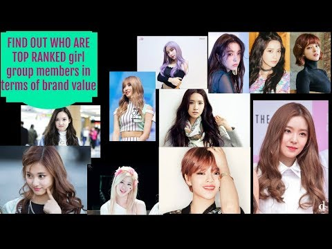 Irene, YoonA, and Jungyeon are the top ranked girl group members in terms of brand value
