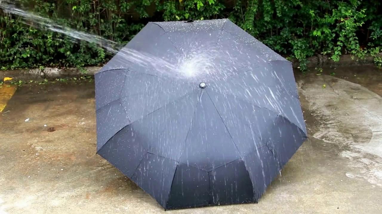 Waterproof Fabric Test: Travel Umbrella with Teflon Coating