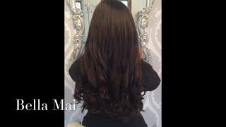 Nano Ring Hair Extensions ~ Before, After and Curled