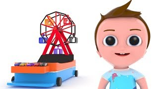 BABY AND CARS TOYS - 3D Animation Nursery Rhymes for Children