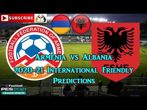 Армения Vs Албания   Международные товарищеские матчи 2020   Прогнозы EFootball PES2021