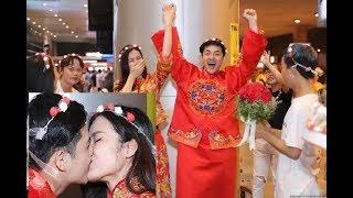 Đông Nhi - Ông Cao Thắng làm 'đám cưới' ở sân bay