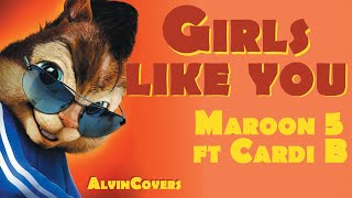 Baixar Maroon 5 ft. Cardi B - GIRLS LIKE YOU - Alvin and the Chipmunks