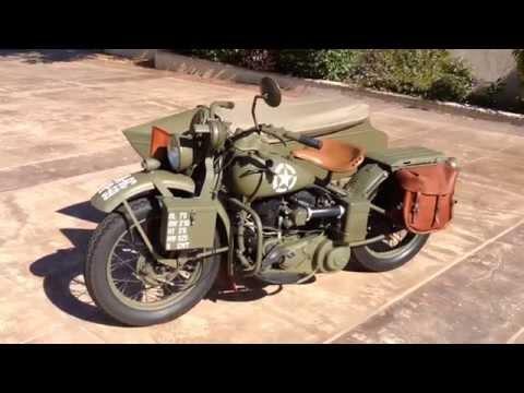 1942 Harley Davidson WLA And Sidecar For Sale