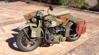 1942 Harley Davidson Wla And Sidecar For Sale Youtube
