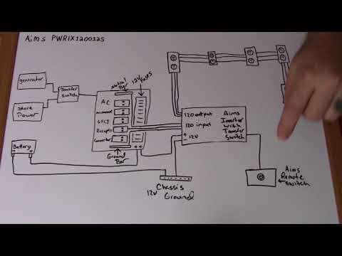 installing aims inverter part 3 wiring diagram youtube  50 rv wiring diagram split phase inverter #1