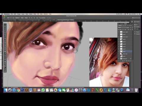 How to draw in Photoshop # Easy method portrait Painting Tutorial by pramodartz